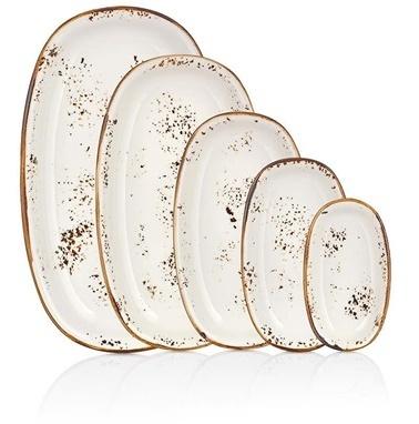 By Bone Porselen Elegance 19 Cm Oval Tabak Renkli